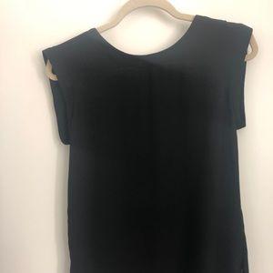 Jcrew black sleeveless blouse